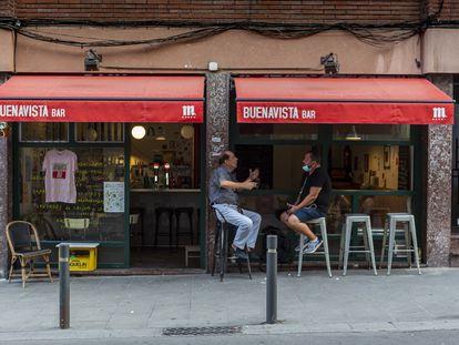 Bar Buenavista en el barrio de Hostafrancs de Barcelona.