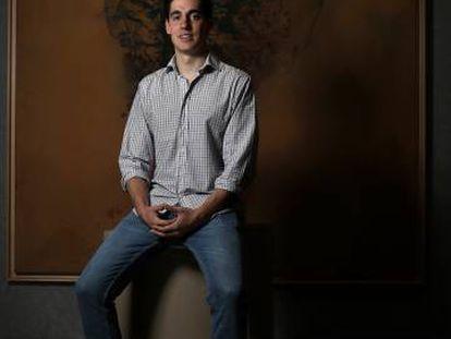 El creador de Artpath, Ignacio Mateos, en el CaixaForum de Madrid.