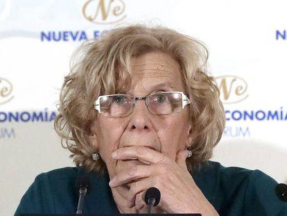 La alcaldesa de Madrid, Manuela Carmena, el 21 de marzo en Madrid.