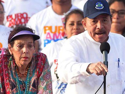 Daniel Ortega junto a Rosario Murillo en una imagen de archivo.