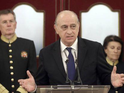 El ministro Jorge Fernández Díaz, este martes, en el Congreso.