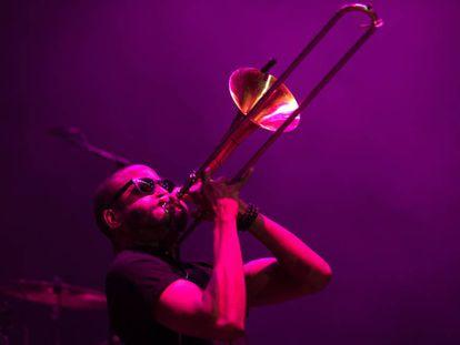 Troy Andrews, líder de Trombone Shorty, en las Noches del Botánico.