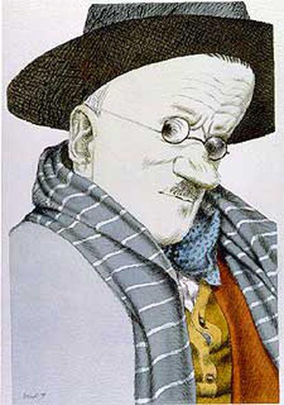 James Joyce (Dublín, 1882-Zúrich, 1941) visto por Tullio Pericoli.