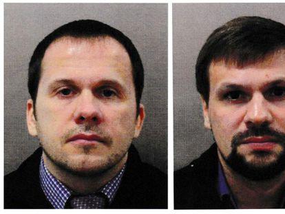 Alexander Petrov (izq) y Ruslan Boshirov, puestos en busca y captura por República Checa.