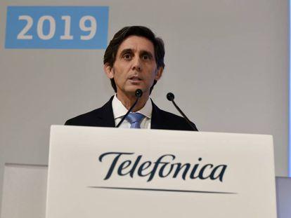 El presidente ejecutivo de Telefónica, José María Álvarez-Pallete,