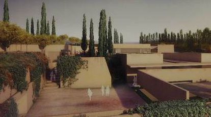 Recreación por ordenador del proyecto <i>Puerta nueva</i>, de Álvaro Siza y Juan Domingo Santos, que ha ganado el concurso internacional de ideas y se construirá en la Alhambra.