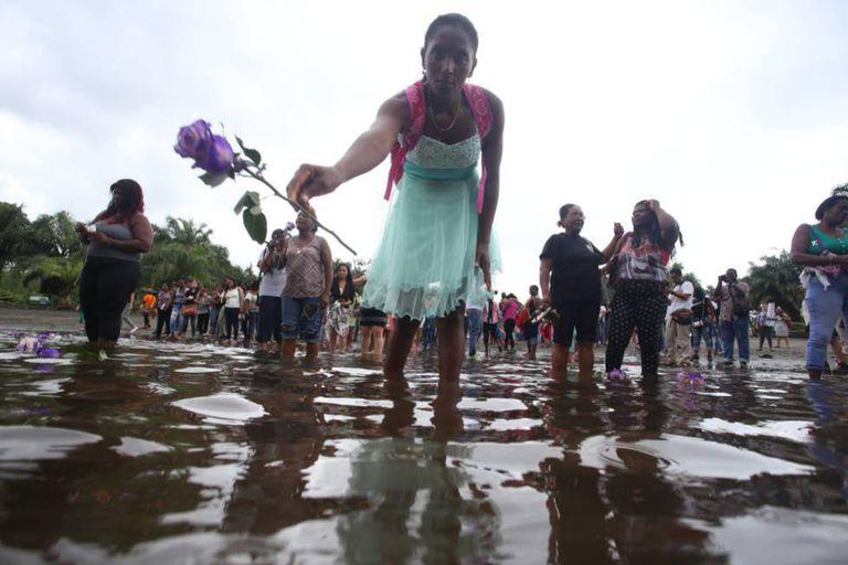 Imagen de la campaña No es hora de callar, en Tumaco (Colombia).