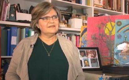 Vilma Sarraff Trujillo, hermana de Rolando, en una captura de una entrevista a Martí TV.
