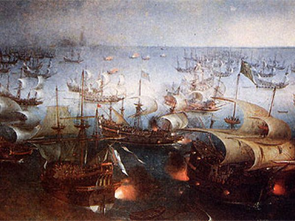 'La Armada Invencible' (finales del siglo XVI), de Hendrick C. Vroom.