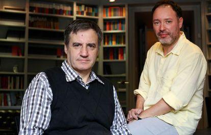 Eugenio García Gascón (izquierda) y Joan Cañete, autores de 'Expediente Bagdad'.