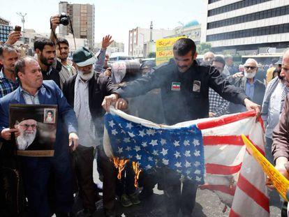Manifestación contra Estados Unidos en Teherán el 10 de mayo.