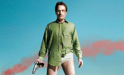Walter White con calzoncillos vintage en 'Breaking Bad'.