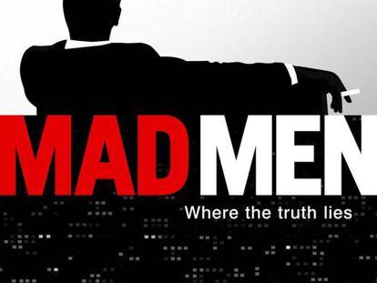 Así se anunciaba por primera vez 'Mad Men', con la ya icónica silueta de Don Draper.