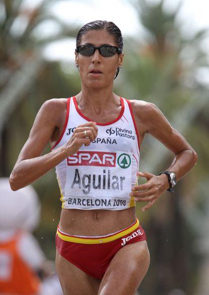 Alessandra Aguilar, durante el maratón del Europeo de Barcelona, en 2010.