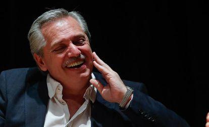 Alberto Fernández este viernes, durante una conferencia sobre el papel de la política en América Latina realizada en una universidad argentina