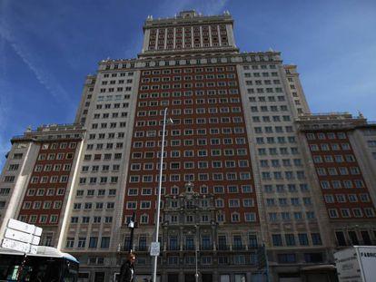 El Edificio España de Madrid, en marzo de 2017.