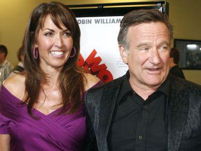 Susan y Robin Williams en el estreno de 'World's Greatest Dad'.