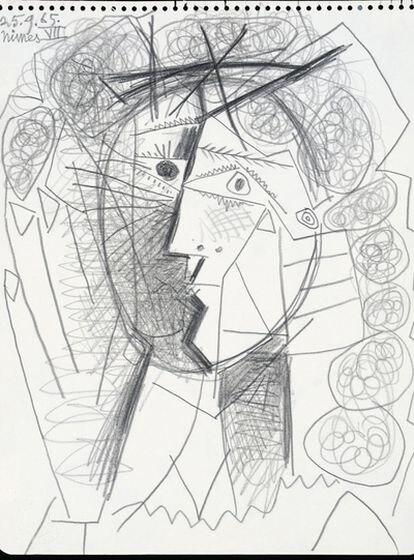 El dibujo 'Tete de Femme' de Pablo Picasso.