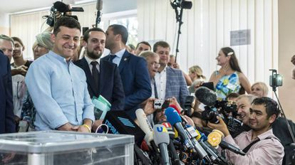 El presidente ucranio, Volodimir Zelenskiy, el 21 de julio de 2019 en Kiev.