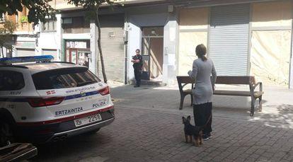 Número 25 de la calle Ollerias Altas, donde ha sido encontrado el cadáver de una mujer degollada