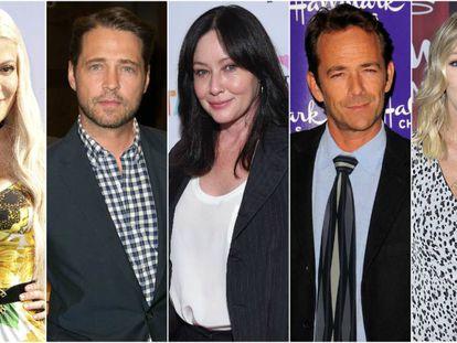 Tori Spelling, Jason Priestley, Shannen Doherty, Luke Perry y Jennie Garth.
