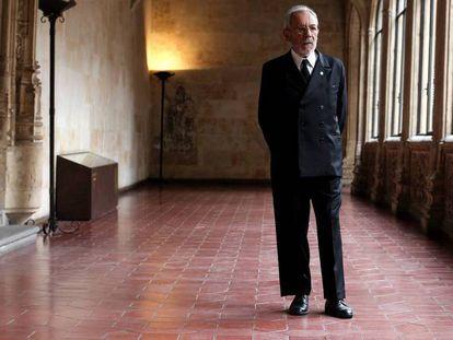 José Luis Gómez, el miércoles durante el homenaje a Miguel de Unamuno en la Universidad de Salamanca.