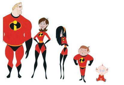 La familia de 'Los Increíbles'.