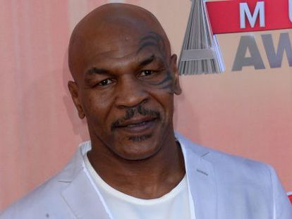 Mike Tyson en los iHeartRadio Music Awards.