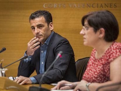 Alfred Costa, director de la Sociedad Anónima de Medios de Comunicación de la Comunitat Valenciana, en su comparecencia en las Cortes Valencianas.
