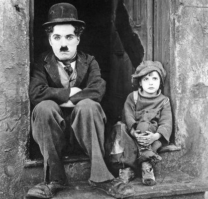 Charles Chaplin y Jackie Coogan, el niño de 'The kid', están entre la minoría de actores que aparecen en más de 100 películas.