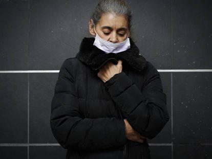 Isabel Paniagua, afectada de iDental, ayer en Getafe.