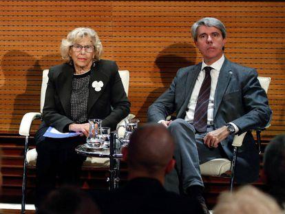 Manuela Carmena y Ángel Garrido, en una imagen de archivo.