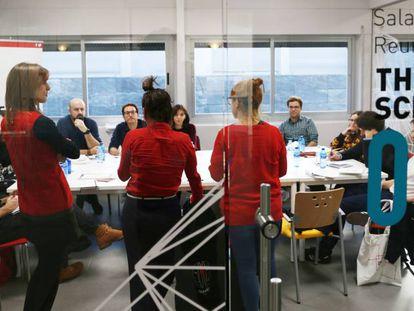 Participantes en la pasada edición de La Incubadora de la Escuela de Cine de Madrid.