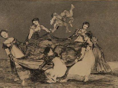 Una obra de 'Los Disparates' de Goya.