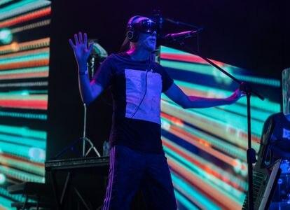 Guille Milkyway, de La Casa Azul, durante el concierto en Sitges.