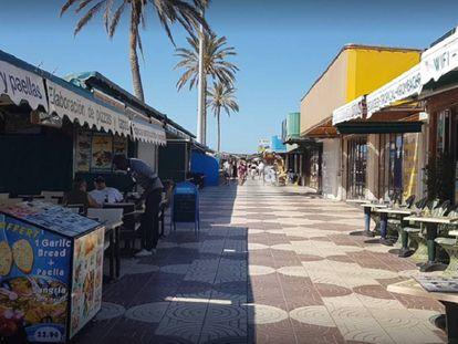 Centro Comercial Anexo II de la Playa de Inglés, en Gran Canarias, donde una niña ha sufrido una electrocución en una atracción infantil.