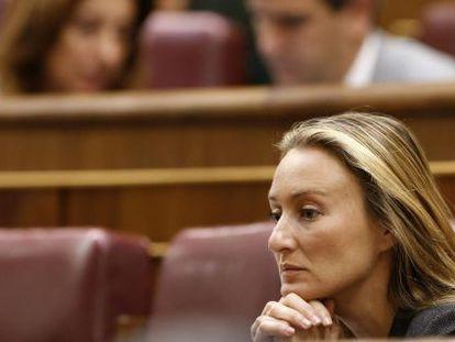La diputada del PP eAndrea Fabra durante el pleno del Congreso.