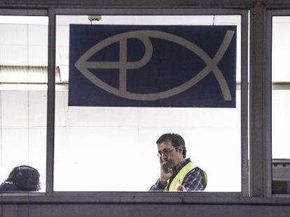Un inspector de Hacienda en una de las empresas investigadas de Mercabarna.