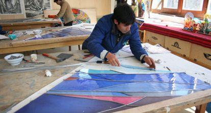 Imagen de los talleres de los Artesanos de Don Bosco