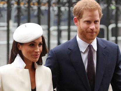 Meghan Markle y Enrique de Inglaterra, en Londres.