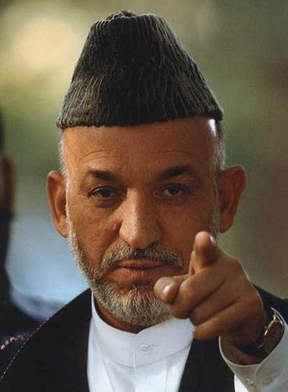 Hamid Karzai, presidente de Afganistán.