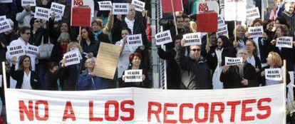 Protesta en el Gregorio Marañón.