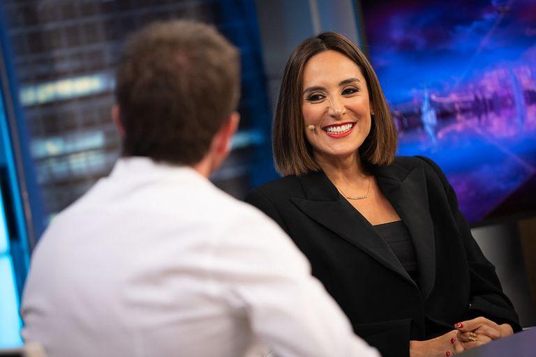 Tamara Falcó, en su primer día como colaboradora de 'El Hormiguero'.