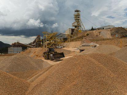 Instalaciones de la mina de fluorita en San Luis Potosí, al norte de México.