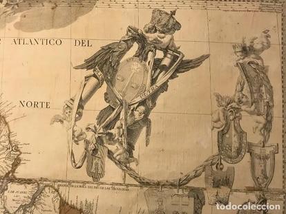 Detalle del mapa de Sudamérica, de Juan de la Cruz Cano.