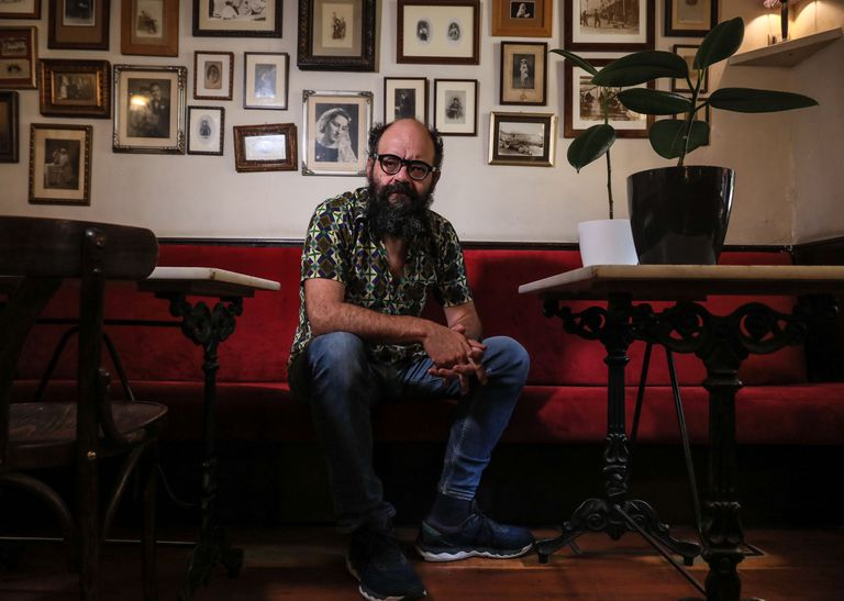 Ignatius Farray, esta semana en un bar de Madrid