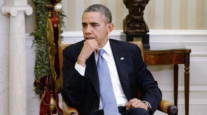 El presidente de EE UU, Barack Obama, en el Despacho Oval.