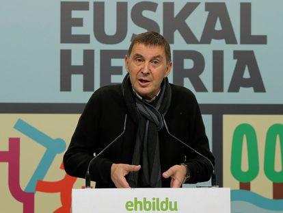 El coordinador general de EH Bildu, Arnaldo Otegi, el pasado 6 de diciembre.
