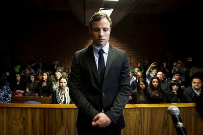 El atleta Oscar Pistorius, durante un juicio en Pretoria (Sudáfrica) en 2013.