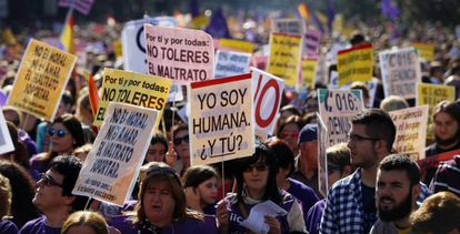Manifestación contra la violencia machista.